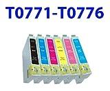 6PK Hi-Yield NON-OEM Ink T0771 - T0776 for epson R260 R280 R380 RX580 595 RX680