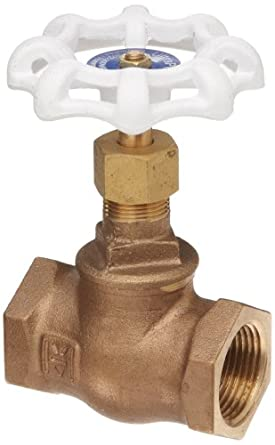 Milwaukee Valve UP502 Series Bronze Globe Valve, Potable Water Service, Inline, Threaded Bonnet, NPT Female