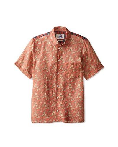 Marc Jacobs Men's Pattern Colorblock Short Sleeve Shirt