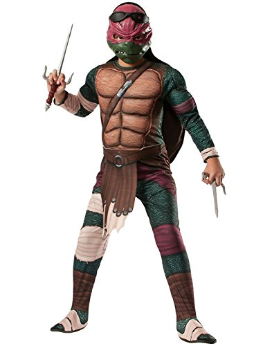 TMNT Movie Raphael Mens Costume (Standard up To Size 44 Chest)