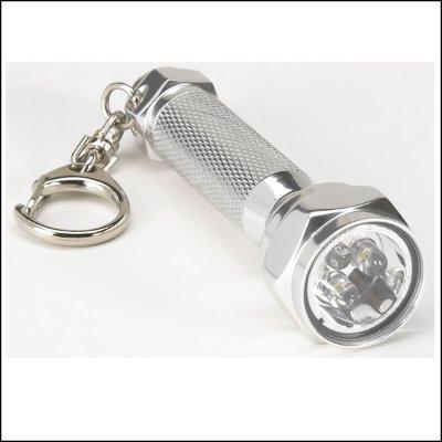 Aluminum Led 3 Bulb Flashlight Emergency Keychain Camping Light