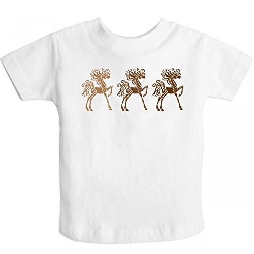 Inktastic Little Boys' Horses (Funny) Gift Toddler T-Shirt 4T White