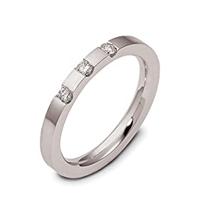 Mens Sterling Silver, Modern 2.5MM Dia. Band, 1/10 cttw