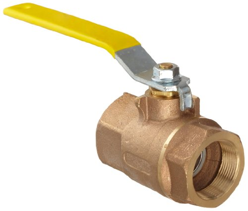 "Apollo 70-100 Series Bronze Ball Valve, Two Piece, Inline, Lever, 1/4"" NPT Female"