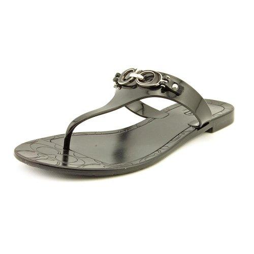 Coach Pennie Jelly Womens Size 8 Black Open Toe Thongs