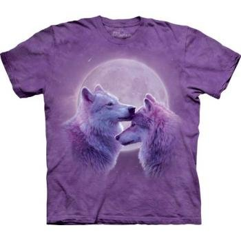 The Mountain Loving Wolves Purple Child T-Shirt L front-868381