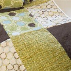 Glenna Jean Spa Throw (Green Circles with Softee back)