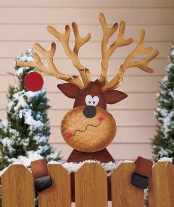 Reindeer Holiday Fence Topper