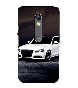 99Sublimation Stylish long Car 3D Hard Polycarbonate Back Case Cover for Motorola Moto X Force :: Dual SIM