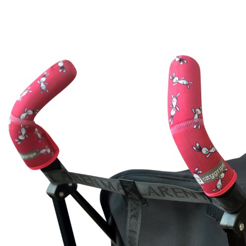 City Grips Double Stroller Bar, Pink Bunny front-795473