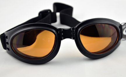 Orange Lens Goggles Sunglasses Goth Anime Cosplay Biker