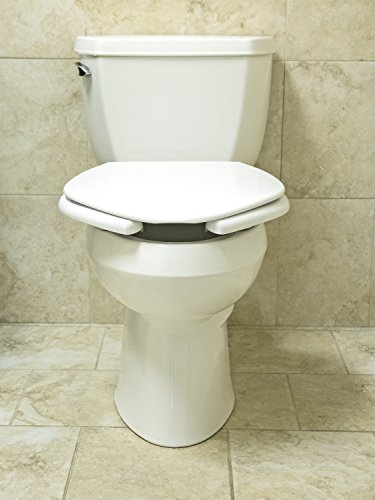 Big John Toilet Seats 2445263-3W Oversized Open Front Toilet Seat with Cover and Stainless Steel Hinges for Round Or Elongated Toilet Bowls, White