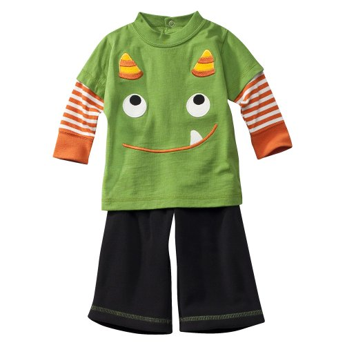 Newborn Boys' JUST ONE YOU Made by Carter's ® Blue Green Daddy's Little Monster Pant Set - baju bayi :  baju bayi baby clothes baby costume