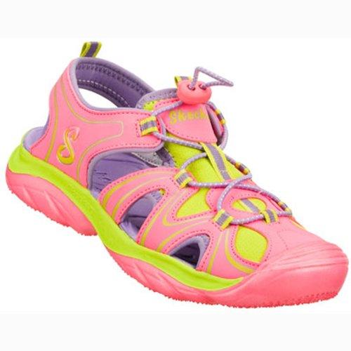 Skechers Kids' Cape Cod Bungee Water Sandal Pre/Grade School (Pink/Green 13.0 M)