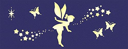 DTM Malschablone für Leuchtfarben, Motiv: Fee und Schmetterlinge