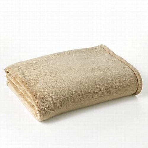 The Big One Plush Super Soft Tan Beige Oversized Microplush Throw Blanket front-497361