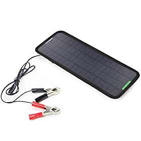 ALLPOWERSu2122 New 18V 5W Portable Solar Car Boat Power Solar Panel Battery Charger Maintainer for Automobile Motorcycle Tractor Boat Batteries