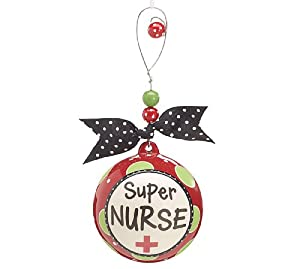 "Unique ""Super Nurse"" Christmas Tree Ornament Great Holiday Gift"