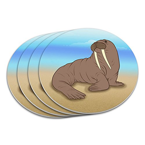 Walrus Beach Animal Coaster Set