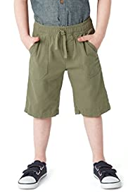 Pure Cotton Drawstring Twill Shorts