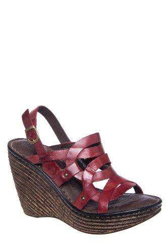 Born Genesis High Wedge Ankle Strap Sandal