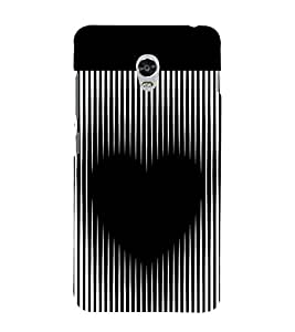 printtech Black Heart Symbol Back Case Cover for Lenovo Vibe P1