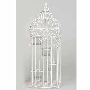 oiseau bird cage 4 tea light candle holder cream. Black Bedroom Furniture Sets. Home Design Ideas