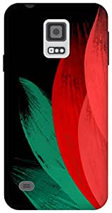 The Racoon Lean tulip chinese brush hard plastic printed back case / cover for Samsung Galaxy S5