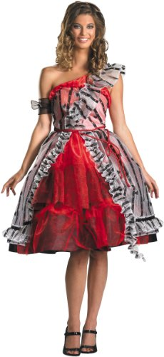 Disfraz de Alicia en el país de las maravillas - Alicia Red Dress Costume Adult Corte