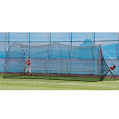 Heater Pro Curve Pitching Machine and Xtender 24 Home Batting Cage by Trend Sports