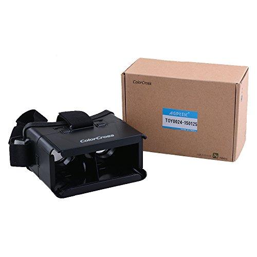 AGPtEK® Google Cardboard Head Mount Plastic Version Simple VR Color Cross Universal Virtual Reality 3D & Video Glasses For Virtual screen 3.5~6'' mobile phones