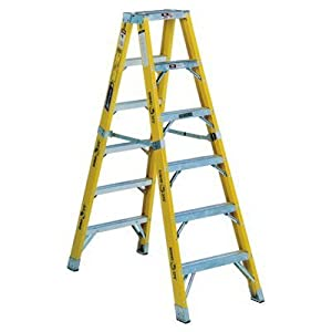 8 Ft Fiberglass Step Ladder With 375 Lb Load Capacity