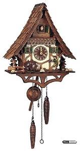 Alemán Reloj cucú de cuarzo movimiento de estilo Chalet, 34 cm - Auténtico reloj de cuco del bosque negro por Anton Schneider de Anton Schneider