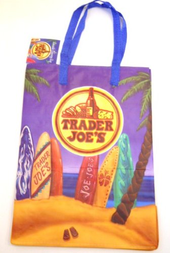 Trader Joe's Surfboard Reusable Tote Grocery