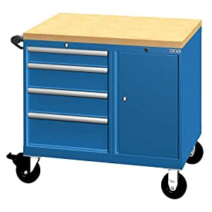 lista bench truck 4 drawers keyed alike classic blue