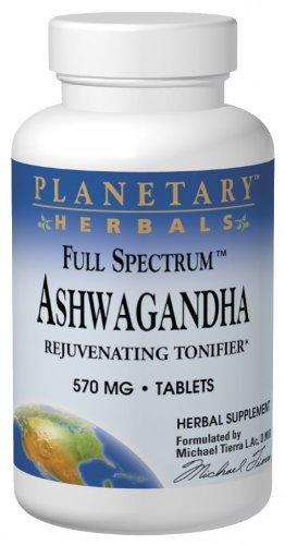 PLANETARY HERBALS, Full SpectrumTM Ashwaganda - 120 tabs