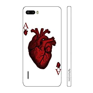 Enthopia Designer Hardshell Case Ace of Hearts Back Cover for Huawei Honor 6 Plus
