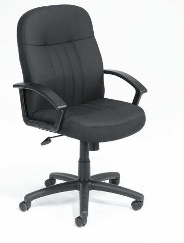 Boss Black Fabric Mid-Back Executive Chair