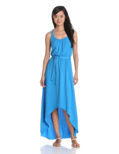 Michael Stars Women's Jersey Knit Hi-Low Maxi, Hurricane, One Size