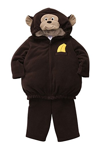 Carters Infant Monkey Costume Baby Boys & Girls Hoody Jacket & Sweat Pants Set