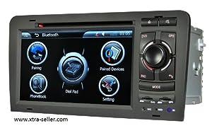 Autoradio 7 pouces HD GPS DIVX DVD PIP MP3 USB micro SD TV RDS Bluetooth IPOD avec CAN BUS pour Audi A3