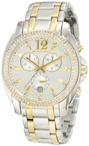 Michael Kors Women'S Cameron Mk5603 Silver Two-Tone Stainless-Steel Analog Quartz Watch With Silver Dial
