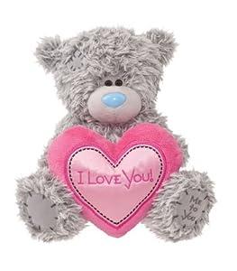Douglas Cuddle Toys 8'' Plush Tatty Teddy Love Bear with Pink Heart