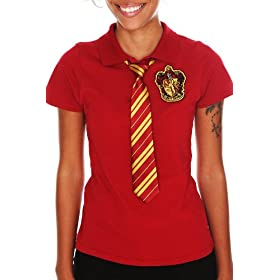 Harry Potter Gryffindor Tie Polo: Clothing