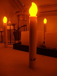 10 LED Battery Candles - Safe, Flameless, 6 Inch Taper Candles Run 50 Hours For Schools, Churches, Christmas Carols, Parades by GlowGadgets