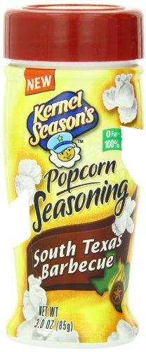 Kernel Season's South Texas Barbecue Popcorn Seasoning, 3 Ounce Shakers (Pack of 6)