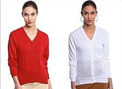 GLASGOW Women's Winter Wear Cardigans - Pack of 2