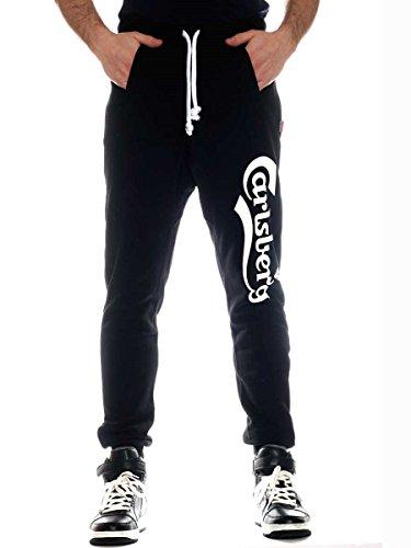 Pantalone Felpa Garzata Carlsberg Cbu1565 Nero 2XL