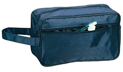 Best Cheap Deal for Toiletry Cosmetics Travel Bag, Navy by BAGS FOR LESSTM from Budget Bags Inc - Free 2 Day Shipping Available