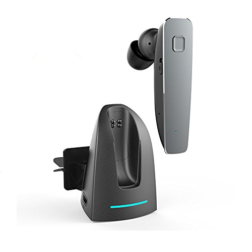 X-LIVE R6100 Bluetoothヘッドセットブルーツゥースイヤホン ワイヤレス イヤホン モノラル 車載 無線 小型 片耳 軽量小型 通話/音楽再生可能 ブラック